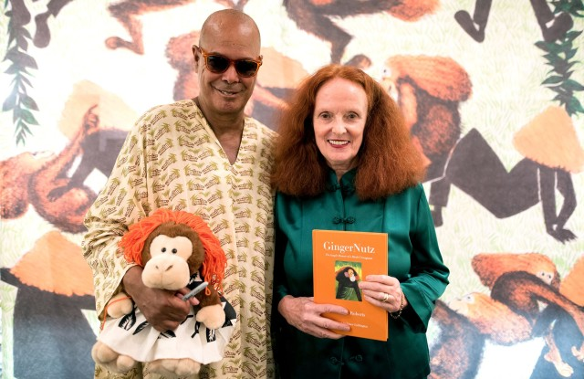 Michael Roberts, Grace CoddingtonGrace Coddington and Michael Roberts 'GingerNutz' book signing, The Met Store, New York, USA - 08 Sep 2017
