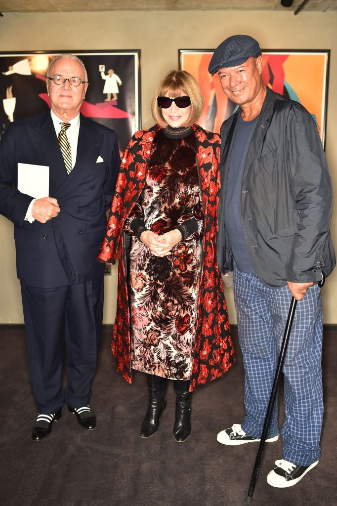 Manolo Blahnik and Anna Wintour and Michael Roberts