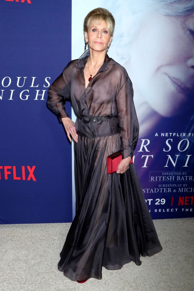 Jane Fonda'Our Souls at Night' film premiere, Arrivals, New York, USA - 27 Sep 2017 WEARING DIOR SAME OUTFIT AS CATWALK MODEL *8891476t