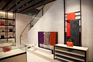 The accessories space in the new Shiatzy Chen store on Avenue Montaigne.A view of the Shiatzy Chen on Avenue Montaigne.