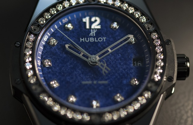 The Hublot Big Bang One Click Italia Independent pictured at the world watch and jewellery show Baselworld in Basel, Switzerland, 22 March 2017.World watch and jewellery show Baselworld, Basel, Switzerland - 22 Mar 2017
