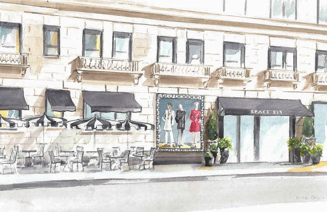 A rendering of the new Space 519 in Chicago that will open in February.