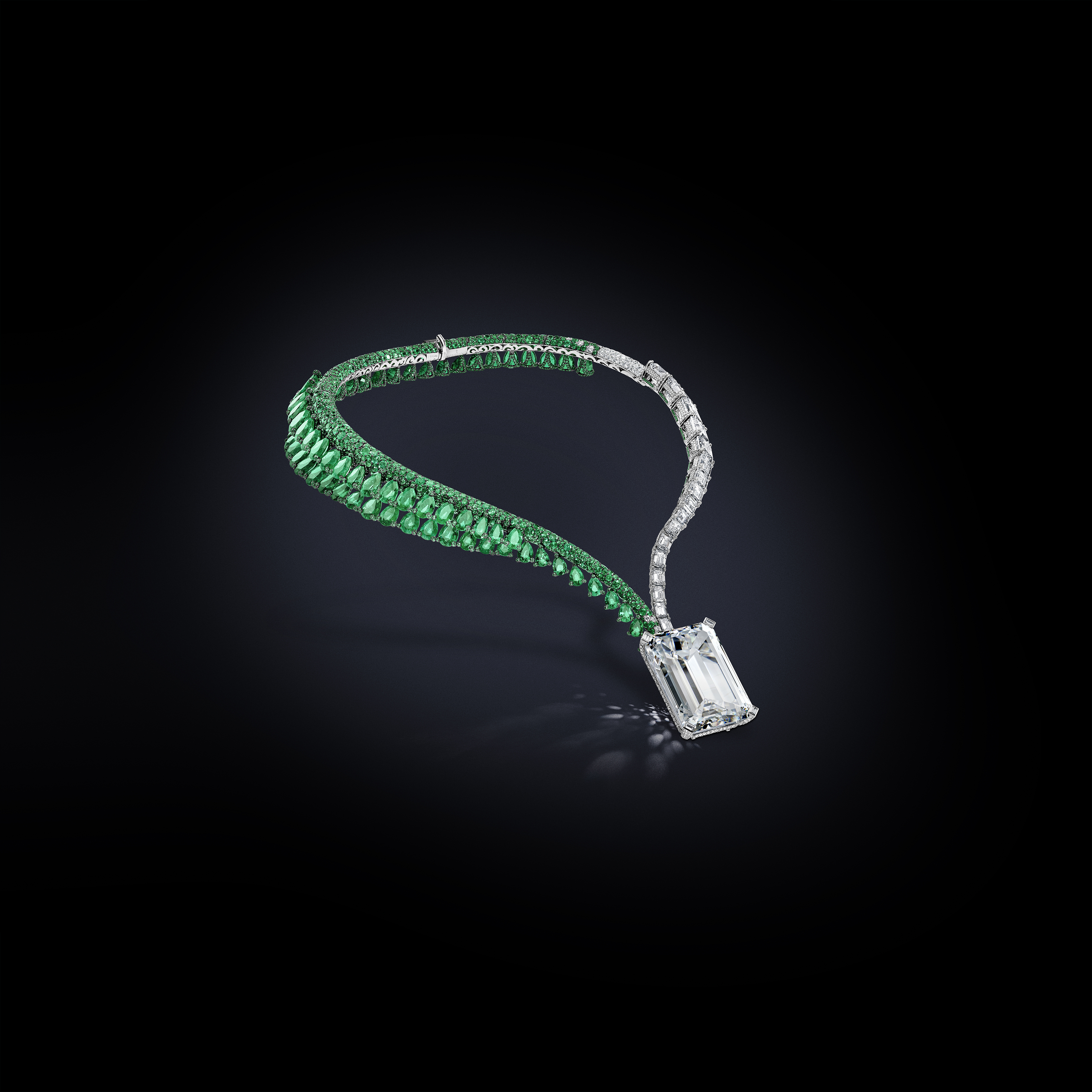 """Jeweler De Grisogrono unveiled its """"Creation I,"""" a necklace featuring a 163.41-carat D-Color Type IIA diamond of Flawless clarity. The necklace will be sold at Christie's in Geneva on Nov. 14."""