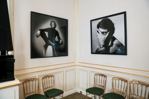 The entrance salon of the YSL museum in Paris