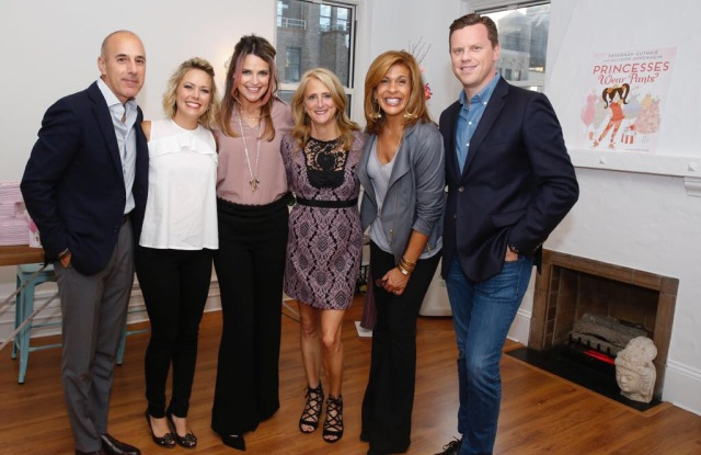 """Savannah Guthrie with Nanette Lepore and her """"Today"""" show team."""