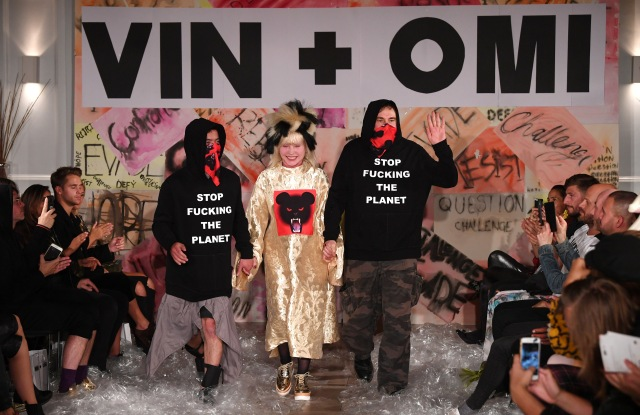 Deborah Harry with Vin and OmiVin and Omi show, Spring Summer 2018, London Fashion Week, UK - 11 Sep 2017
