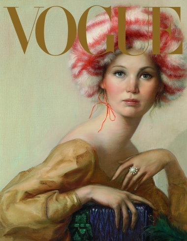 John Currin's Jennifer Lawrence cover.