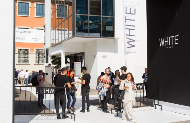 MILAN, ITALY - SEPTEMBER 22:  General view of White Women's Collections + accessories SS 18 on September 22, 2017 in Milan, Italy.  (Photo by Sebastian Reuter/Getty Images for White)