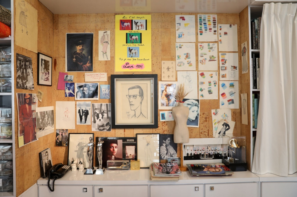 Yves Sant Laurent's inspirations wall