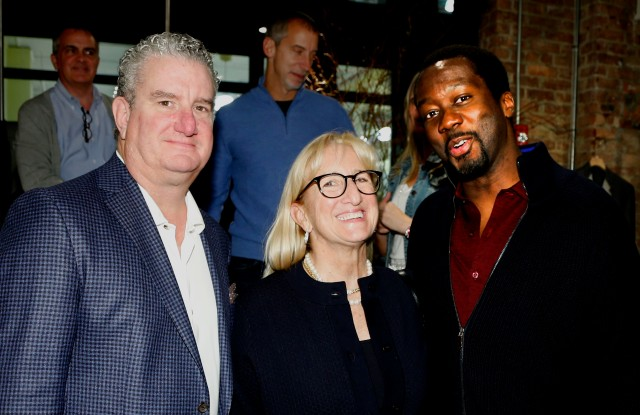 Rob and Suzy Donohue with Anson Carter