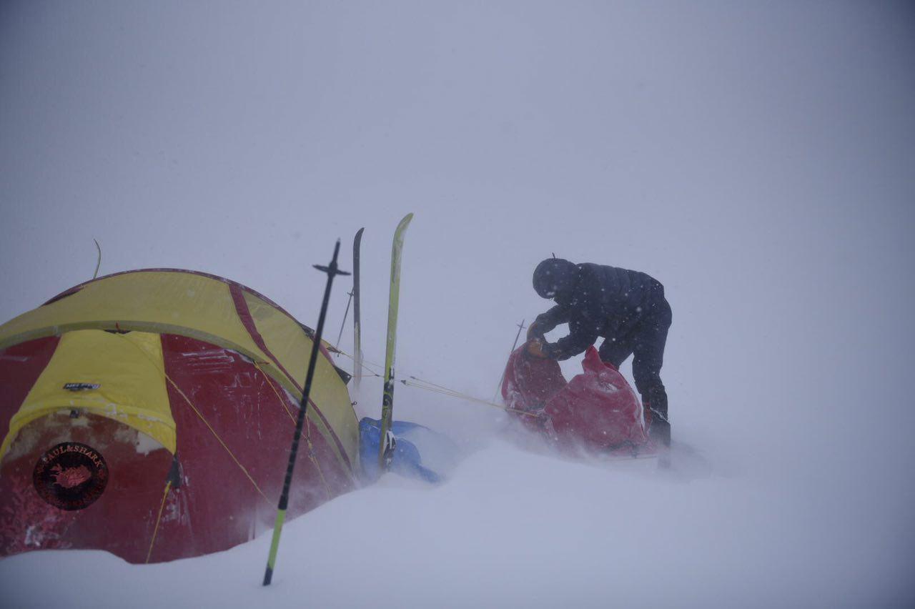 Alex Bellini on his adventure crossing Vatnajokull.