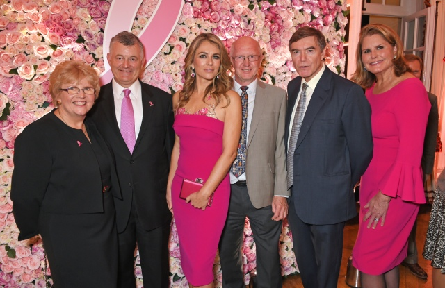William P. Lauder, Executive Chariman of The Estee Lauder Companies, Elizabeth Hurley, Mitch Dowsett, Team Leader at the Institute of Cancer Research, The Royal Marsden, Philip Dunne and Alexandra Trower