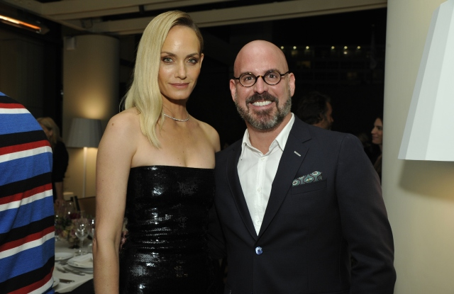 Amber Valletta and Andres Sosa at The Outnet dinner in Beverly Hills