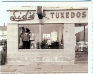 The original iteration of the store was a tuxedo shop.