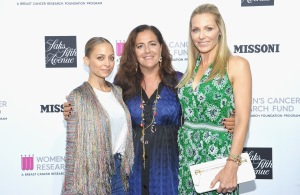 Nicole Richie, Creative Director, Missoni Angela Missoni, WCRF, Founder Jamie Tisch at SAKS FIFTH AVENUE and WOMENS CANCER RESEARCH FUND celebration of KEY TO THE CURE with MISSONI at Mr. Chow on October 18, 2017 in Beverly Hills, California. (Photo by Donato Sardella/Getty Images for Saks Fifth Ave)
