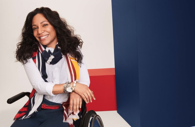 A look from Tommy Hilfiger's new adaptive collection for adults.