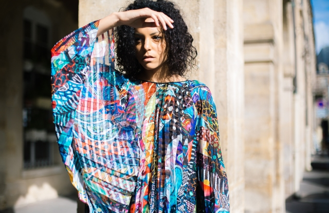 """A look from Sydney-based brand Romance Was Born's spring 2018 collection, presented during the Australian Fashion Chamber's """"Australian Designers Abroad"""" pop-up showroom in Paris."""