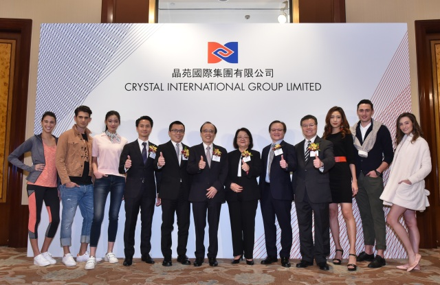 Crystal International Group management at a press conference announcing its IPO plans.