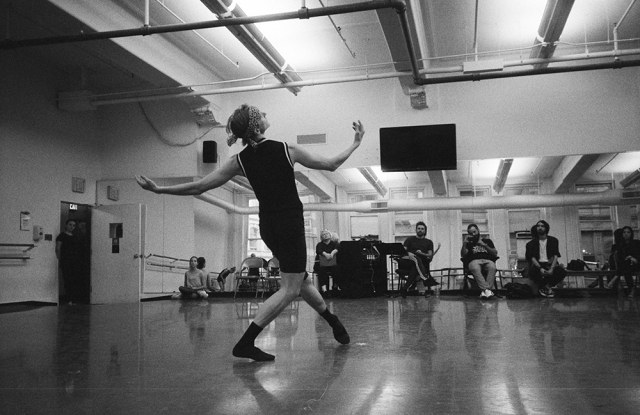 """Principal Dancer David Hallberg rehearsing """"I Feel the Earth Move,"""" a World Premiere by Benjamin Millepied."""