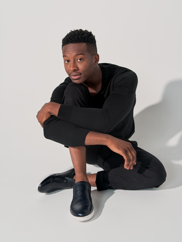 Brandon Micheal Hall photographed by Dan Doperalski at the PMC Studio in Los Angeles for WWD