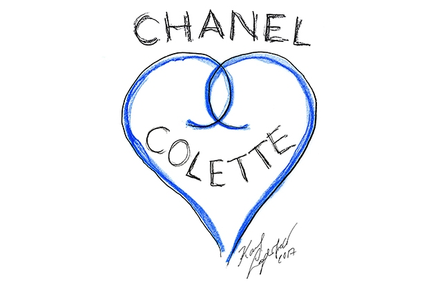 A sketch by Karl Lagerfeld for Colette.
