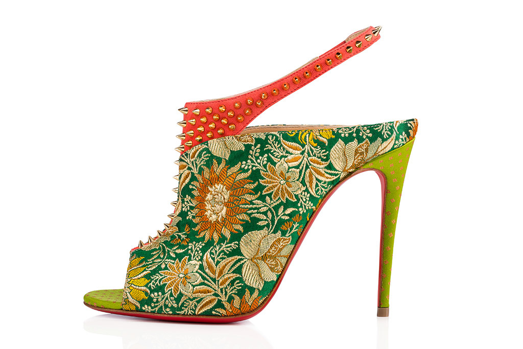 A shoe from the Louboutin x Sabyasachi collaboration.