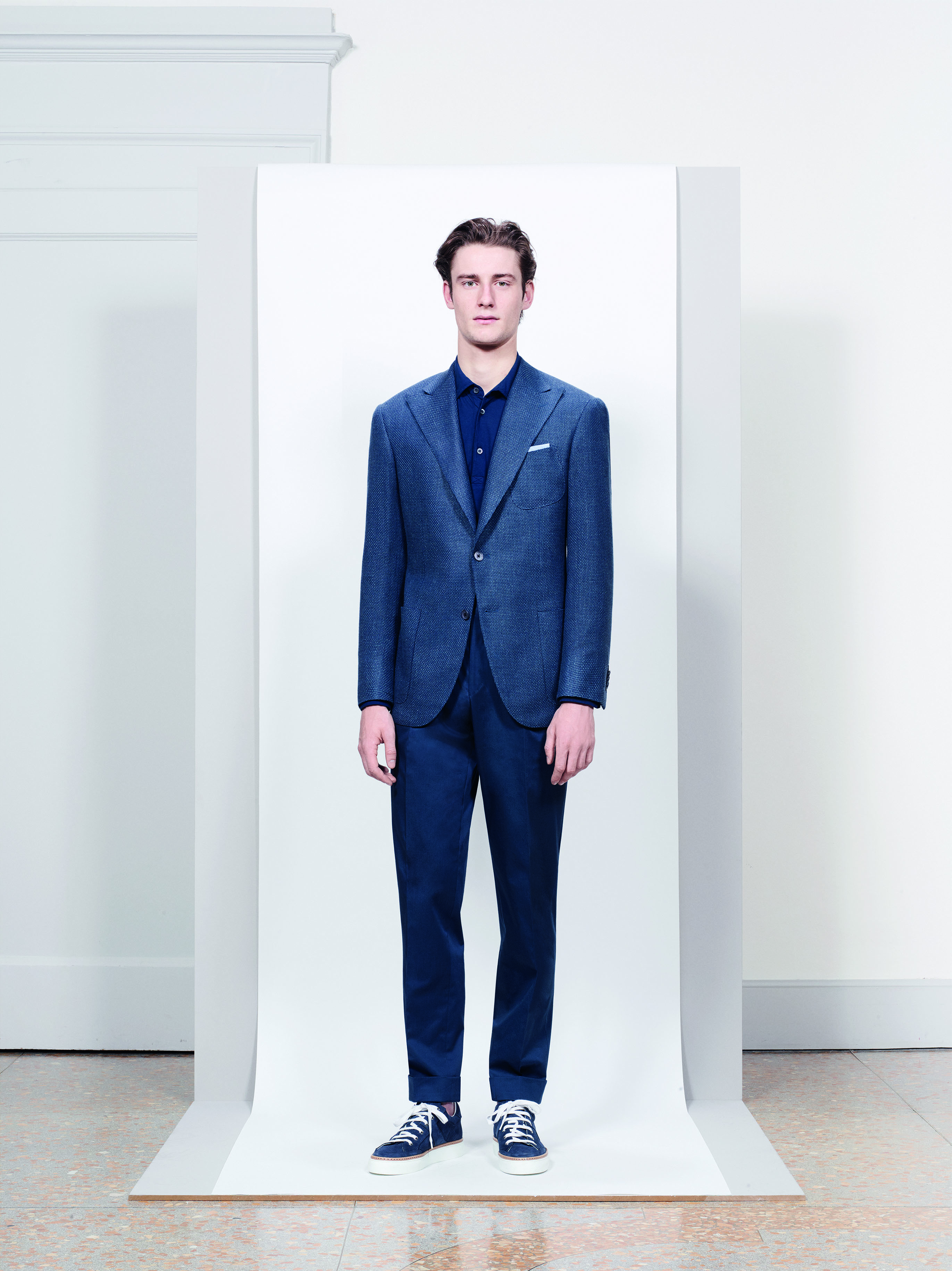 A look from Corneliani's Spring 2018 collection.