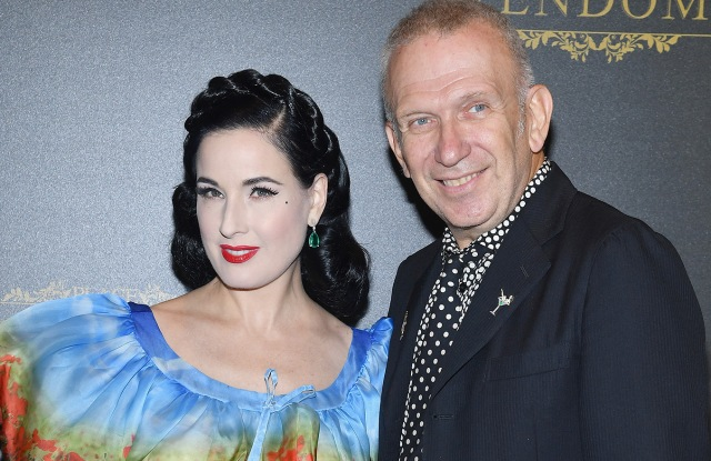 Dita Von Teese and Jean Paul Gaultier