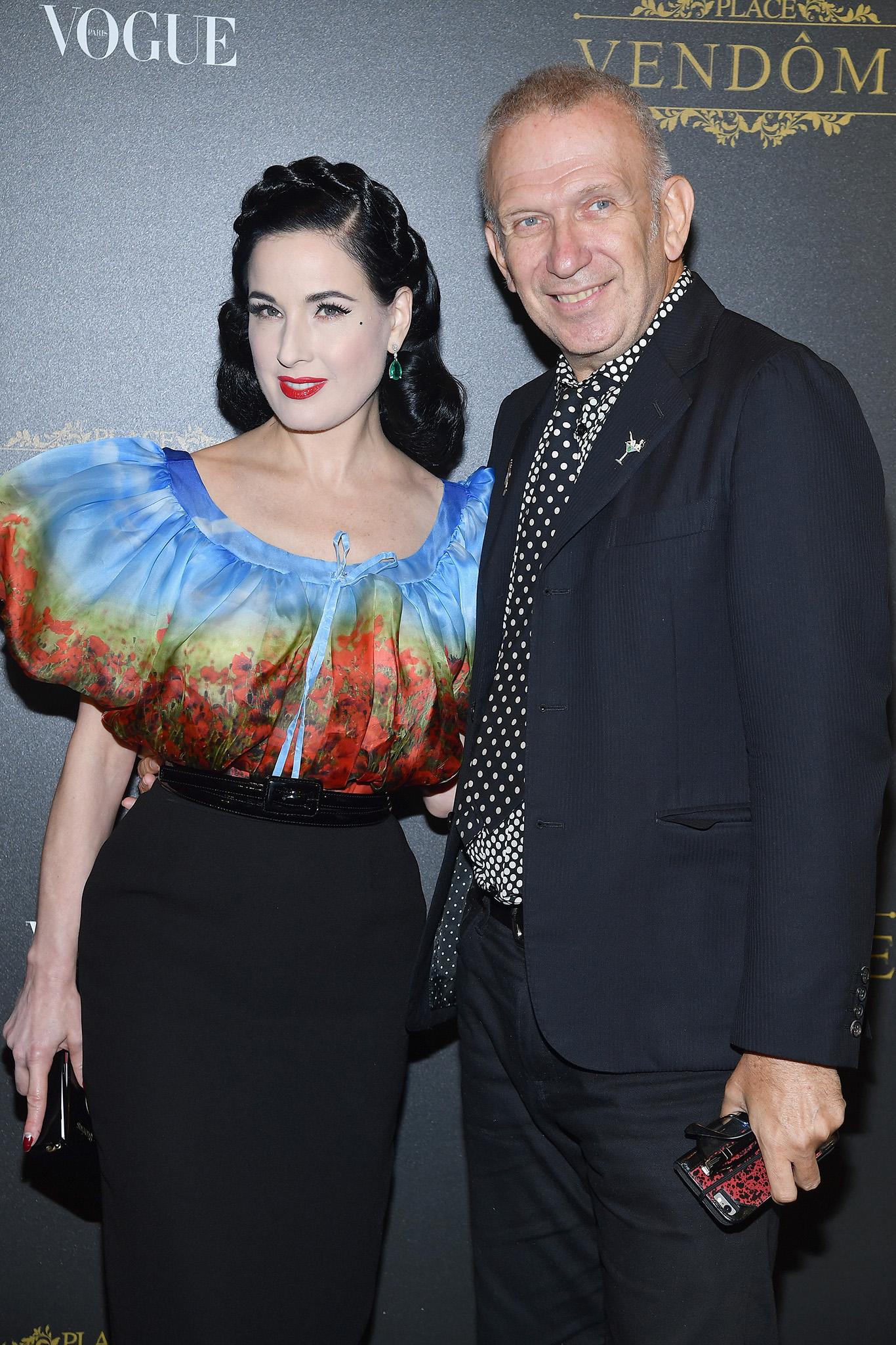 Dita Von Teese and Jean Paul Gaultier
