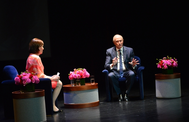 Linda Levy and Jean-Paul Agon talk fragrance at The Fragrance Foundation's Master Class.