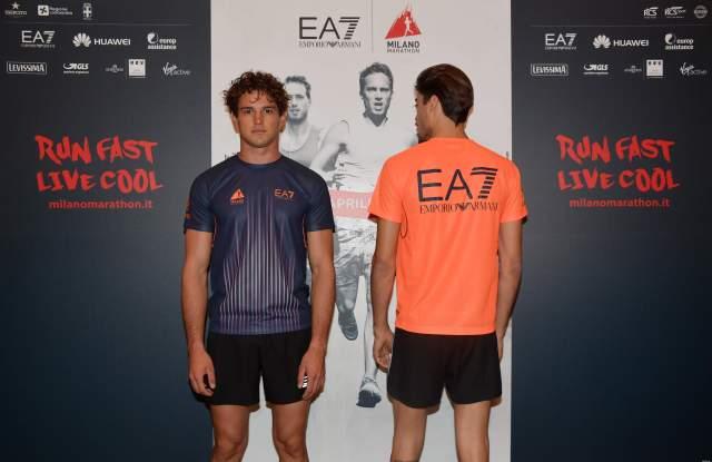 EA7 Emporio Armani T-shirts for Milano Marathon 2018.