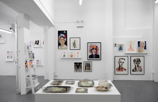 The Showstudio Fashion Illustration pop-up in Covent Garden