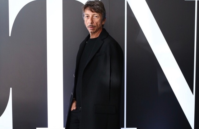 Pierpaolo Piccioli outside the Valentino pop-up in Tokyo
