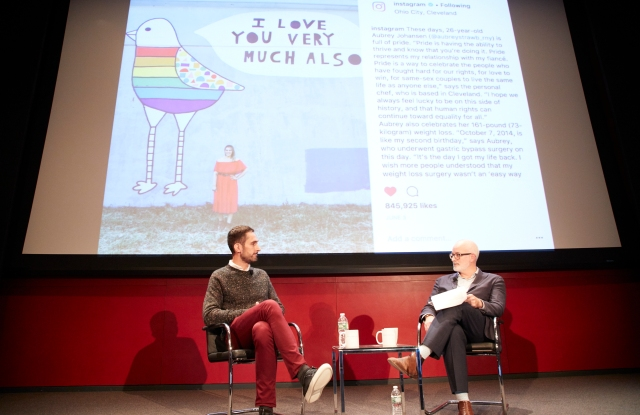 Instagram's Systrom with Hearst's Young