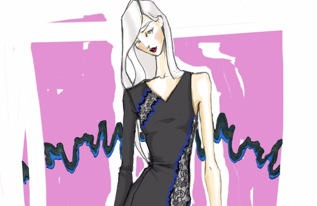 A sketch from La Perla's spring ready-to-wear collection.