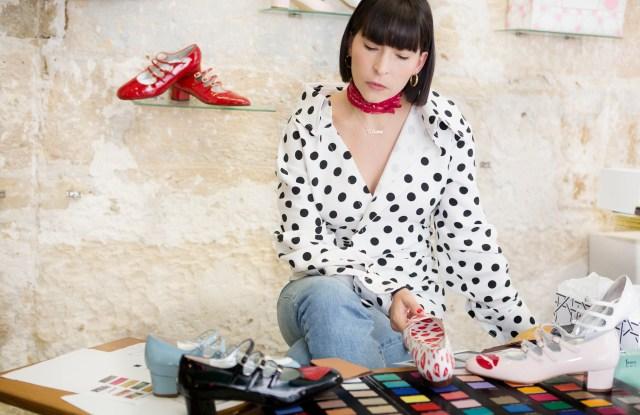 Clara Cornet at Carel's design studio.