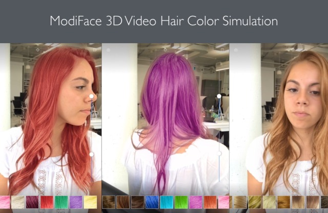Modiface 3D Hair Color Simulation from 2017