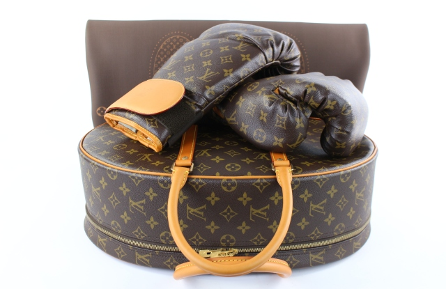 Louis Vuitton boxing gloves set