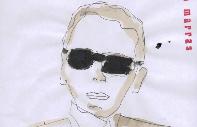 A portrait of Karl Lagerfeld by Antonio Marras.
