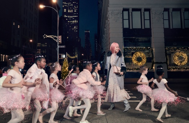 An image from Kate Spade New York's holiday campaign.