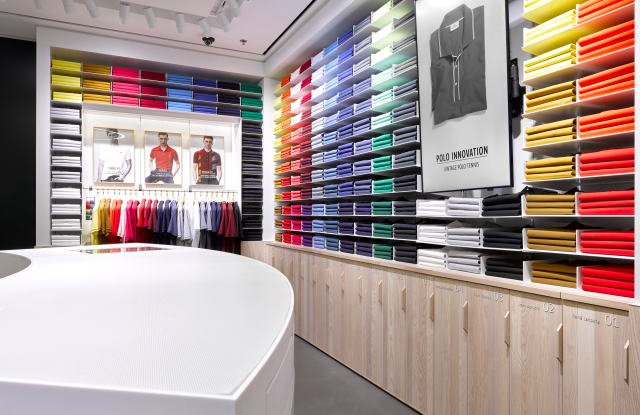 A Lacoste store's Polo display