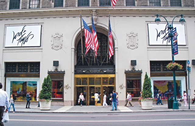 exterior view of the Lord & Taylor flagship store on Fifth Avenue in Manhattan, New York
