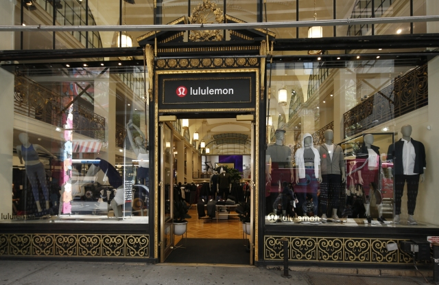 The Lululemon storefront on Fifth Avenue.