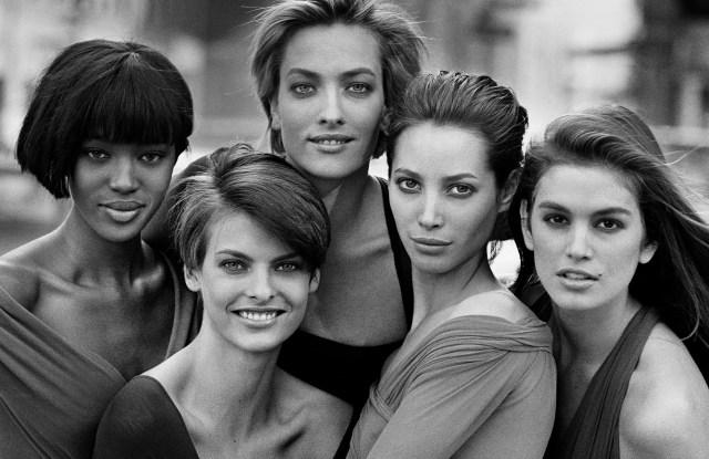 Naomi Campbell, Linda Evangelista, Tatjana Patitz, Christy Turlington & Cindy Crawford, New York, 1990