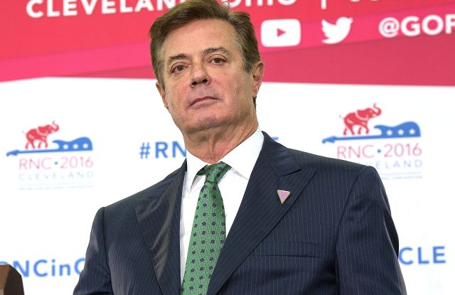 Paul Manafort, Donald Trumps' campaign manager, briefs reporters on what to expect from Donald Trump at the 2016 Republican National ConventionRepublican National Convention, Quicken Loans Arena, Cleveland, Ohio, USA - 17 Jul 2016