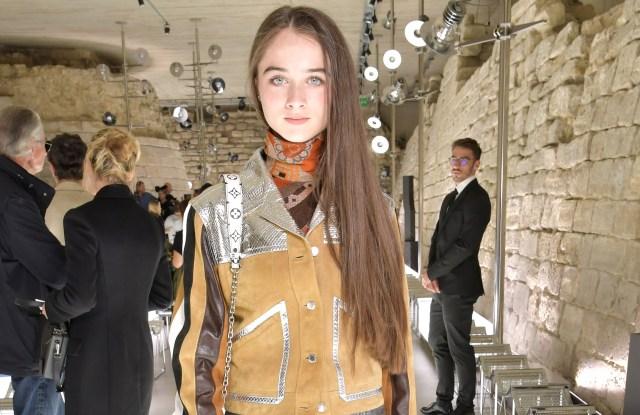 Raffey CassidyLouis Vuitton show, Front Row, Spring Summer 2018, Paris Fashion Week, France - 03 Oct 2017WEARING LOUIS VUITTON SAME OUTFIT AS CATWALK MODEL *8820776p