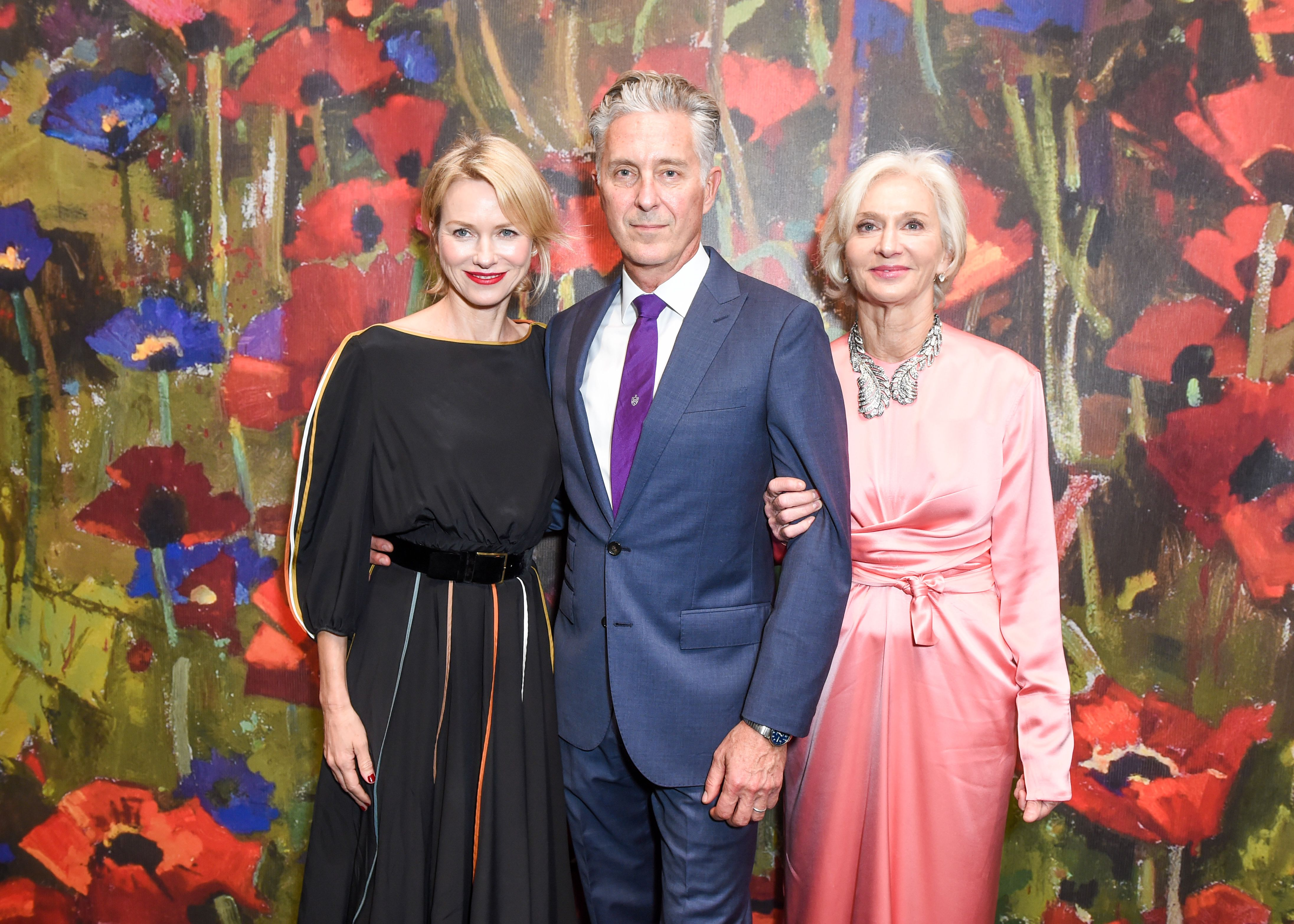 Naomi Watts, David Kratz, Eileen Guggenheim'Take Home a Nude' annual auction and dinner, Inside, New York, USA - 11 Oct 2017
