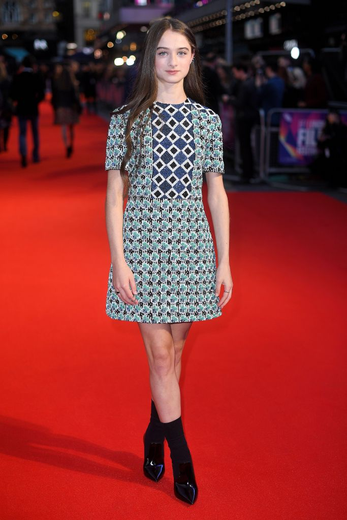 Raffey Cassidy'The Killing of a Sacred Deer' premiere, BFI London Film Festival, UK - 12 Oct 2017 WEARING BURBERRY