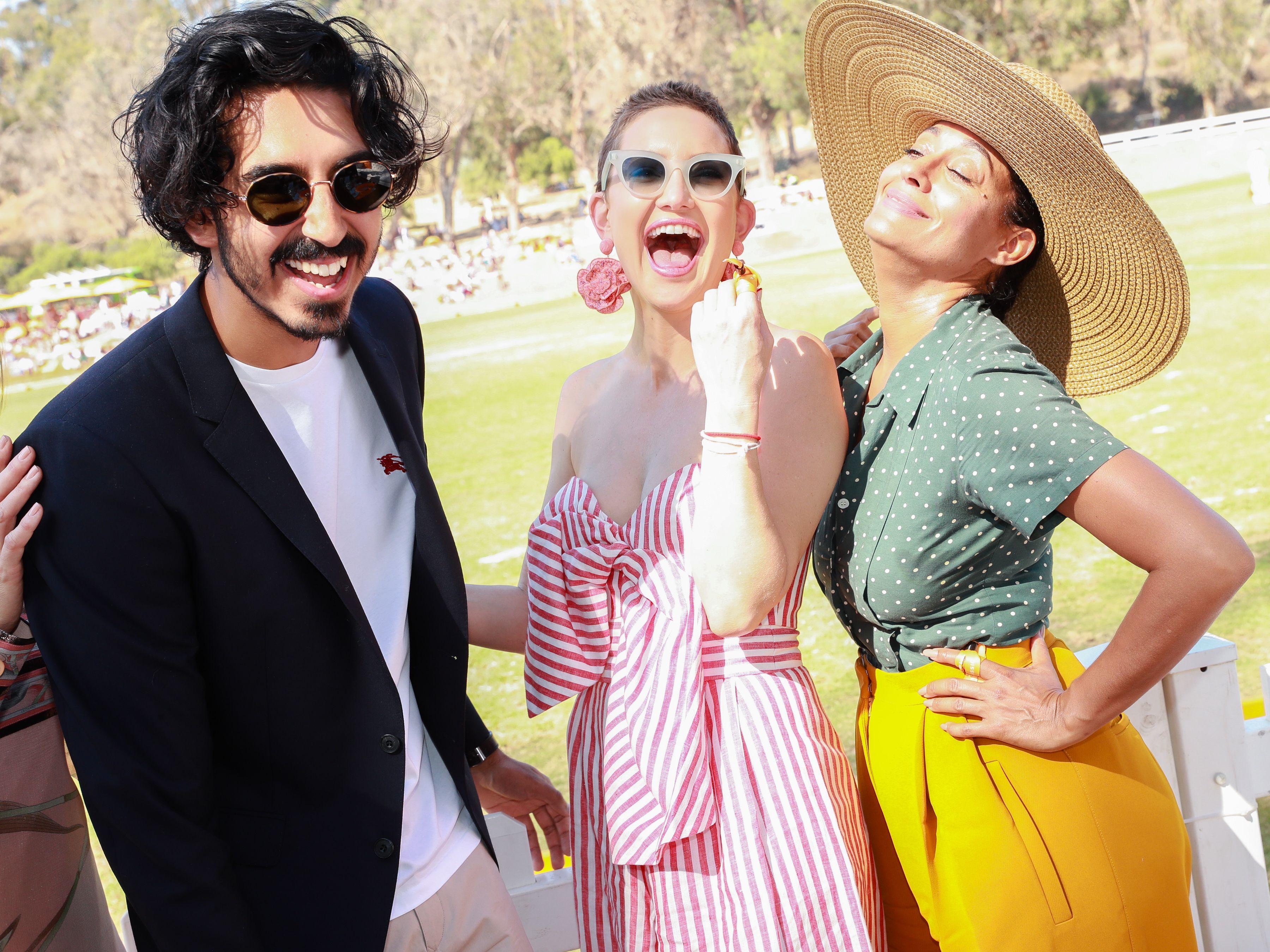 Dev Patel, Kate Hudson, Tracee Ellis RossVeuve Cliquot Polo Classic, Inside, Los Angeles, USA - 14 Oct 2017