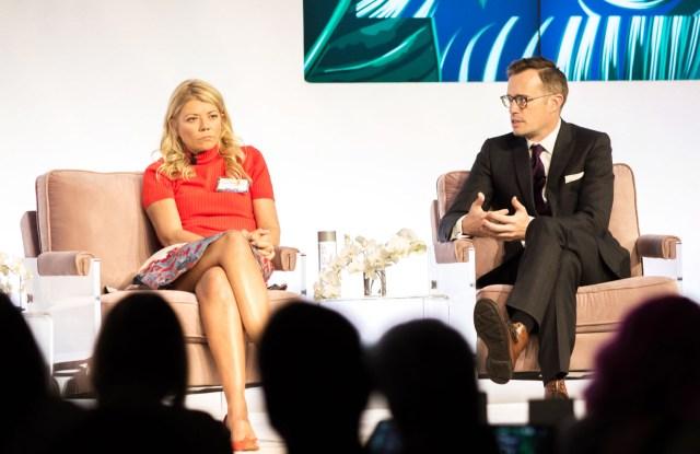 Virginie Morgon, Ryan CottonWWD Apparel and Retail CEO Summit, New York, USA - 24 Oct 2017